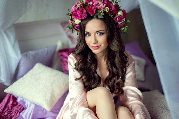 сборы невесты макияж и прическа в СПб