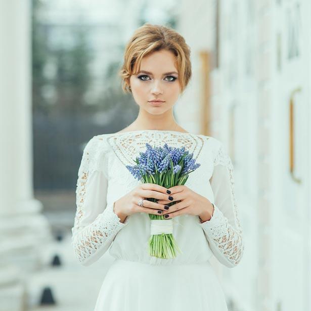 нежный образ невесты в СПб
